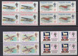 Falkland Islands 1969 Government Air Service 4v  Bl Of 4 ** Mnh (41477B) - Falklandeilanden