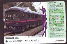 Carte Prépayée  Japon * TRAIN * JR * IO * CARD * (4868) Japan Prepaid Card * ZUG * Karte * TREIN * IO * - Trains