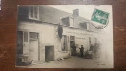 C.P.A. : 18 SAINT-FLORENT SUR CHER : Café De La Promenade GUENIN BLIN, Animé, Timbre En 1908 - Saint-Florent-sur-Cher
