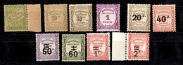France Timbres Taxe YT N° 30, 45A, 46, 49/50, 51/54 Et 59 Neufs ** MNH. Gommes D'origine. TB. A Saisir! - 1859-1955 Mint/hinged