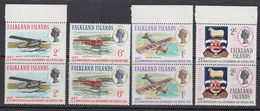 Falkland Islands 1969 Government Air Service 4v (pair) ** Mnh (41477F) - Falklandeilanden