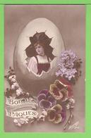 BONNES PAQUES ../  .... Carte écrite En 1915 - Easter