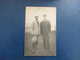 CPA AVIATION EN 1908 AVIATEURS BERG ET WRIGHT - Aviatori