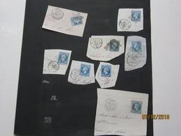 LE/AJ : 14 Timbres Napoléon III Et Cérès Avec Oblitérations Etoile ,gros Ponts , Losange , Etc...Paris,Luzille, Amboise, - Other