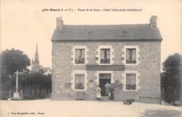 35 - Ille Et Vilaine / 10096 - Gosné - Place De La Gare - Hôtel Joulaud Hurault - Other Municipalities