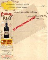 INDE-BOMBAY- RARE CRAWFORD MARKET-DAJEEBHOY DADABHOY BARIA-FERGUSON'S P & O- SCOTCH WHISKY-GLASGOW ALEX FERGUSON-1900 - Factures & Documents Commerciaux