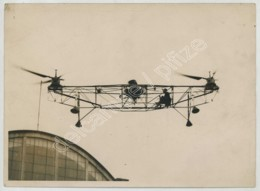 (Aviation) Belgique . Essai De L'hélicoptère De Nicolas Florine Par M. Collin . 1934 . - Aviación
