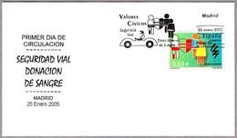 DONANTES DE SANGRE. BLOOD DONNORS. SPD/FDC Madrid 2005 - Salud