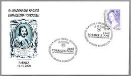 400 Años Nacimiento EVANGELISTA TORRICELLI - 400 Years Of The Birth. Faenza, Ravenna, 2008 - Physique