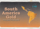 UK - South America Gold Prepaid Card, Mint - Royaume-Uni