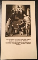 """Antico Santino Holy Card """" MADONNA E SANTI BIAGIO, ROCCO """" Ed. Salvardi Bologna - Religion & Esotérisme"""