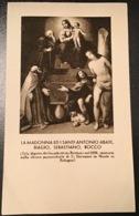 "Antico Santino Holy Card "" MADONNA E SANTI BIAGIO, ROCCO "" Ed. Salvardi Bologna - Godsdienst & Esoterisme"