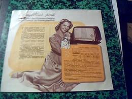 Publicité   Tract TSF Radio Pin Up POSTE  Recepteur L 026  DUCRETET -THOMSON Année  1950 - Publicités