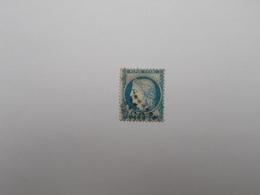 TIMBRE OBLITERE 25 C BLEU - 1871-1875 Cérès