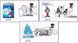 DISNEY 23 EXPO 2015 - Set 3 Cancels. Anaheim CA 2015 - Disney