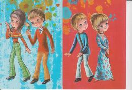 LOT DE 10 CARTES FANTAISIES MODERNES  - - Cartes Postales