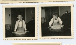 Jeune Enfant Kid Gateau Anniversaire Birthday Cake Bougie 7 Ans Years Candle Duo Lot 2 Photos Souffle Blow - Personnes Anonymes