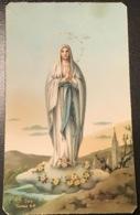 """Antico Santino Holy Card """" MADONNA """" Ed.AR Turris 66 - Religion & Esotérisme"""