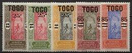 Togo, N° 119 à N° 123** Y Et T - Ungebraucht