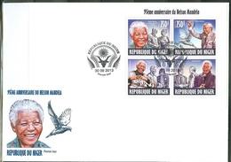 Niger 2013, Mandela, Diana, M. Jackson, Bill Gates, 4val In BF In FDC - Informatique