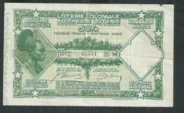 Billet De La Loterie Coloniale Du Royaume De Belgique - Billets De Loterie