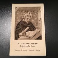 """Antico Santino Holy Card """" S.ALBERTO MAGNO """" Ed. Bononia Bologna - Godsdienst & Esoterisme"""