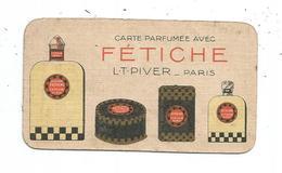 Fétiche ,Calendrier Carte Parfumée, Petit Format; 1927 - Calendriers