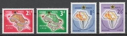 Ghana 1958 Mi# 24-27** CONFERENCE OF INDEPENDENT AFRICAN STATES - Ghana (1957-...)