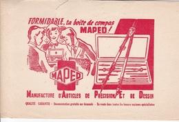 BUVARD PAPETERIE FORMIDABLE TA BOITE DE COMPAS MAPED - Stationeries (flat Articles)