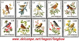 San Marino 1972 Serie Uccelli - Nuovi