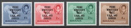Ghana 1958 Mi# 32-35** PRIME MINISTER KWAME NKRUMAH'S VISIT TO THE US AND CANADA - Ghana (1957-...)