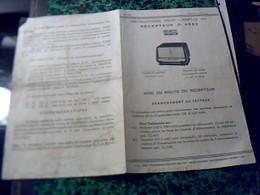Publicité   Tract TSF Radio POSTE  Vec Plans  Techniques   RECEPTEUR  D 2923 DUCRETET-THOMSON Année 50 - Publicités