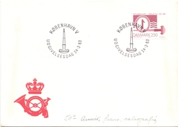 DANMARK KOBENHAVN  CALIGRAPHY ANNIVERSARY  COVER 1983 . (DICE1800030) - Danimarca