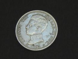 Spain - Espagne - 1 Una  Peseta 1903 - ALFONSO XIII -  Argent - Silver  *** EN ACHAT IMMEDIAT **** - [ 1] …-1931 : Royaume