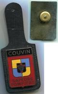 BZ869 INSIGNE SAPEUR POMPIER COUVIN BELGIQUE - Pompiers
