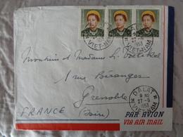 1953 - LETTRE AVEC 3 TIMBRES IMPERATRICE NAM PHUONG - Viêt-Nam