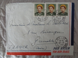 1953 - LETTRE AVEC 3 TIMBRES IMPERATRICE NAM PHUONG - Vietnam