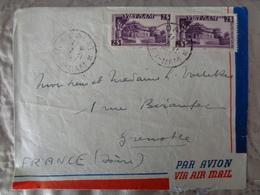 1953 - LETTRE AVEC 2 TIMBRES DE HUE - Viêt-Nam