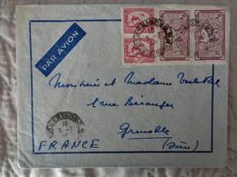 1948 - LETTRE AVEC 4 TIMBRES - Viêt-Nam