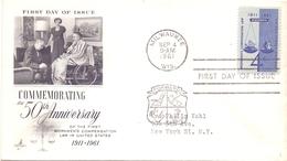 UNITED STATES 1961 FORWARD MILWAUKEE FDC  (DICE1800031) - Professioni