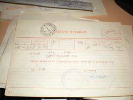 Telegram Nazy Okupation Banat  Landratsamt Modosch Jasa Tomic 1943 Drzavni Telegram Telegramm - 1939-45
