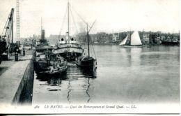 N°67633 -cpa Le Havre -le Quai Des Remorqueurs Et Grand Quai- - Remorqueurs