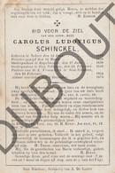 Doodsprentje Pater/Frère Carolus Ludovicus Schinckel °1812 Nokere/Kruishoutem †1873 Sint Niklaas Rupelmonde  (F114) - Décès
