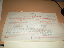 Telegram Nazy Okupation Banat  Landratsamt Gros Kikinda Returning Hunting Rifles 1942 - 1939-45