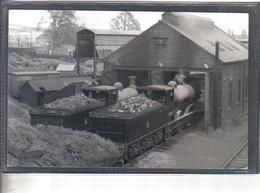Photo Originale Royaume-Uni View Of Alloc Loco Shed   Railway Train Locomotive - Trains