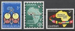 Ghana 1961 Mi# 94-96** AFRICA FREEDOM DAY - Ghana (1957-...)