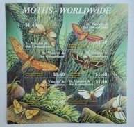St. Vincent&The Grenadines 2001** Klb.5448-53. Moths Worldwide MNH [10;45] - Insects