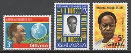 Ghana 1961 Mi# 106-08** NATIONAL FOUNDER'S DAY - Ghana (1957-...)