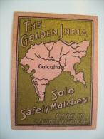 Czechoslovakia: Old Matchbox Label - The Golden India - Solo Match Works - Matchbox Labels