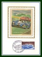 Carte Maximum Silk Soie France N° 1761 24H Du Mans 1973 - Automobile